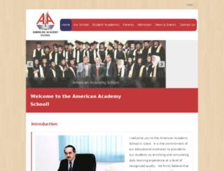americanacademy.com.qa screenshot