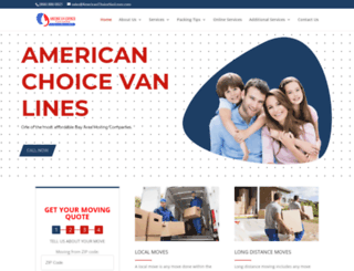 americanchoicevanlines.com screenshot