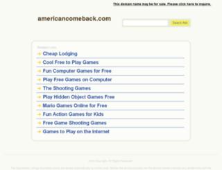 americancomeback.com screenshot