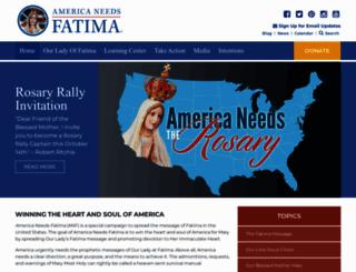 americaneedsfatima.org screenshot