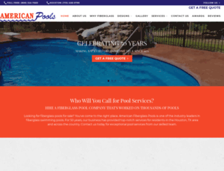 americanfiberglasspools.com screenshot