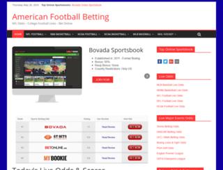 americanfootballbetting.com screenshot