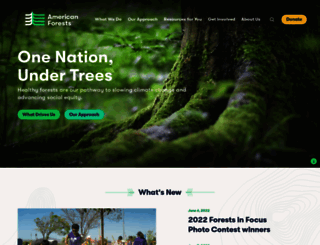 americanforests.org screenshot