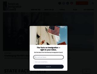 americanimmigrationcouncil.org screenshot