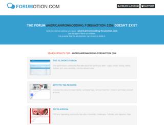 americanironmodding.forumotion.com screenshot