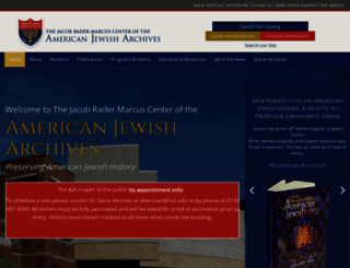 americanjewisharchives.org screenshot