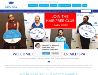 americanlasermedspa.com screenshot
