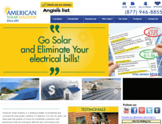 americansolarsolution.com screenshot