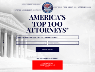 americastop100attorneys.com screenshot