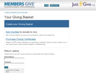 amex.justgive.org screenshot