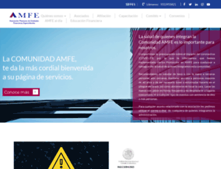 amfe.com.mx screenshot