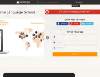 amilingo.com screenshot