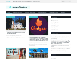 amistadinstitute.net screenshot