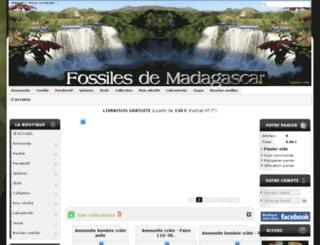 ammonites-madagascar.com screenshot