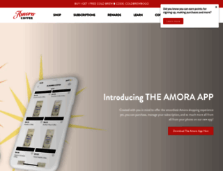 amoracoffee.com screenshot