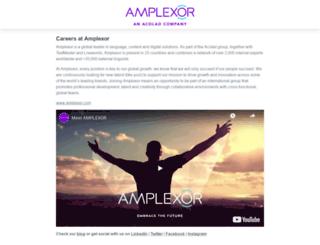 amplexor.workable.com screenshot