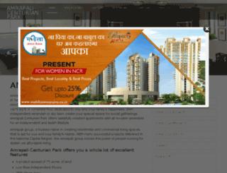 amrapalicenturianpark.co.in screenshot
