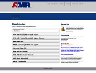 amrhawaii.enrollware.com screenshot