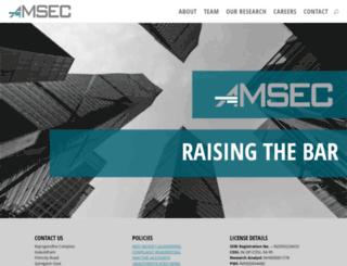 amsec.in screenshot