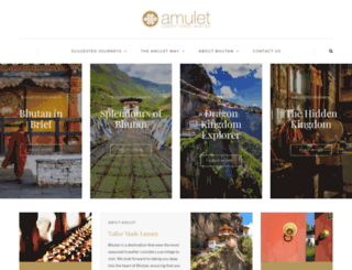 amuletbhutan.com screenshot