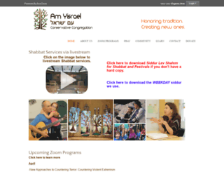 amyisrael.org screenshot