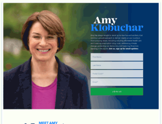 amyklobuchar.com screenshot