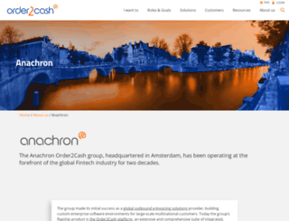 anachron.com screenshot