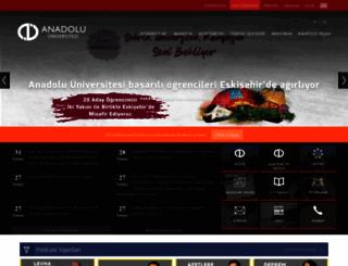 anadolu.edu.tr screenshot