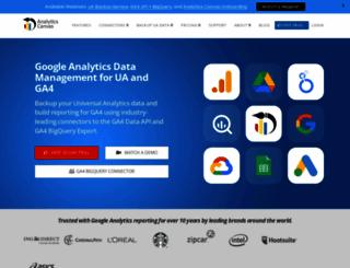analyticscanvas.com screenshot