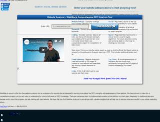 analyzer.webimax.com screenshot