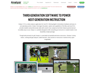 analyzrgolf.com screenshot