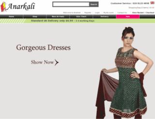 anarkali.co.uk screenshot