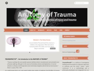 anatomyoftrauma.com screenshot