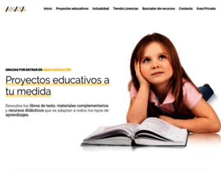anayaeducacion.es screenshot
