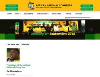 anc.org.za screenshot