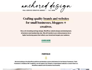 anchoreddesign.com screenshot