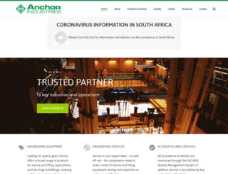 anchors.co.za screenshot