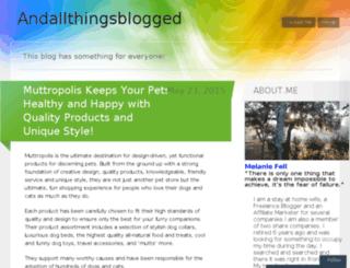 andallthingsblogged.wordpress.com screenshot