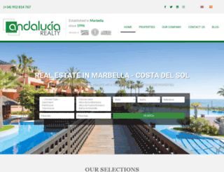 andaluciarealty.com screenshot