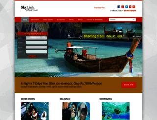andamannicobartourism.in screenshot
