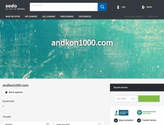 andkon1000.com screenshot