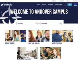 andover.ac.uk screenshot
