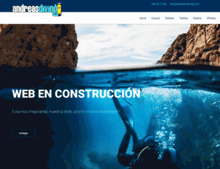 andreas-diving.com screenshot