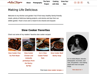 andreasrecipes.com screenshot
