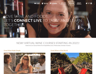 andreawine.com screenshot