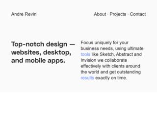 andrerevin.com screenshot