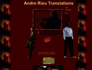andrerieutranslations.com screenshot