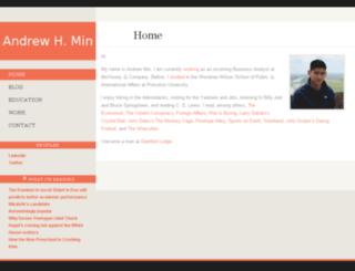 andrewmin.com screenshot