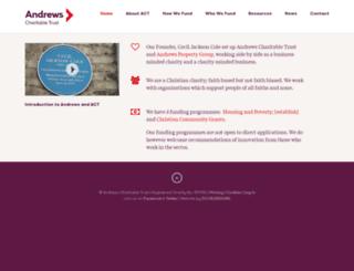 andrewscharitabletrust.org.uk screenshot