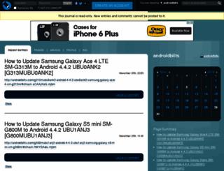 androidbiits.livejournal.com screenshot